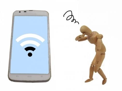 携帯電話の使用環境で電磁波の量が増える