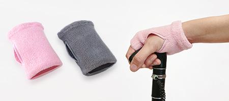 使用例(杖を握っている手)