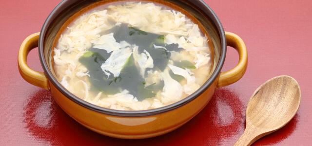 スープに混ぜて