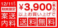 3900円以上お買い上げで送料無料