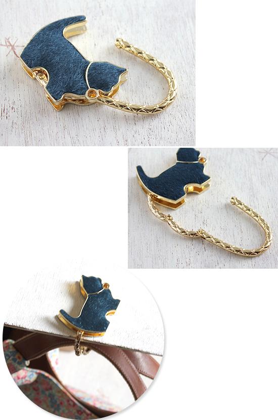 Chaton シャトン チャームスタイル バッグハンガー 猫 ネコ ブルー