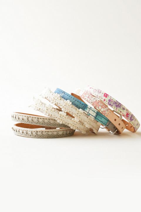 布ベルト 花柄など、かわいいプリント生地を使用した腕時計用ベルト