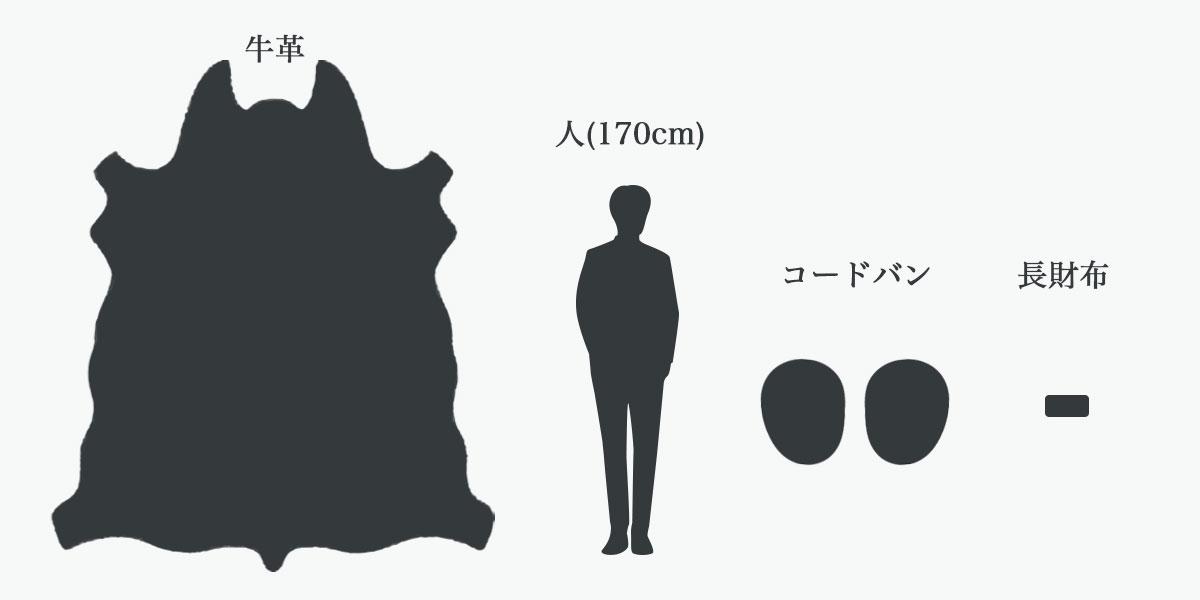 革の大きさ比較