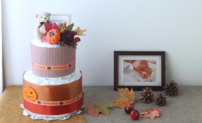 ハロウィンのおむつケーキ