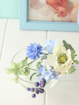 おむつケーキ チビ花