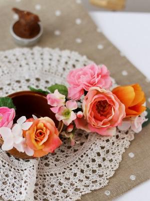 フラワーケーキ ピンク 花
