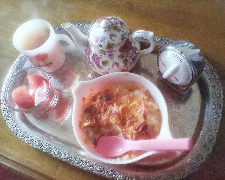 オールドパイレックス キャセロール ピンク グースベリー 1パイント、ヴィンテージ LUX キッチンタイマー