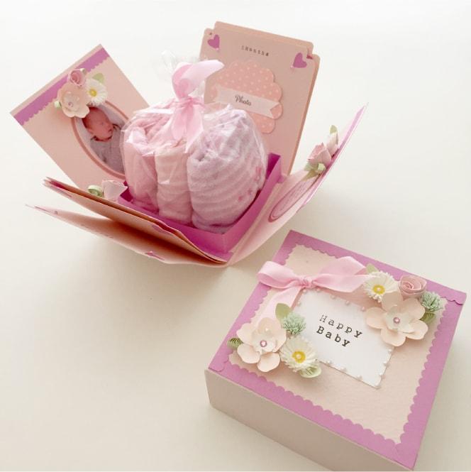 出産祝いのサプライズボックス作品例