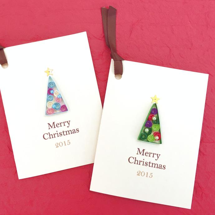NK craft キラリナ 啓文堂書店 吉祥寺店ワークショップ クリスマスツリーのミニカード