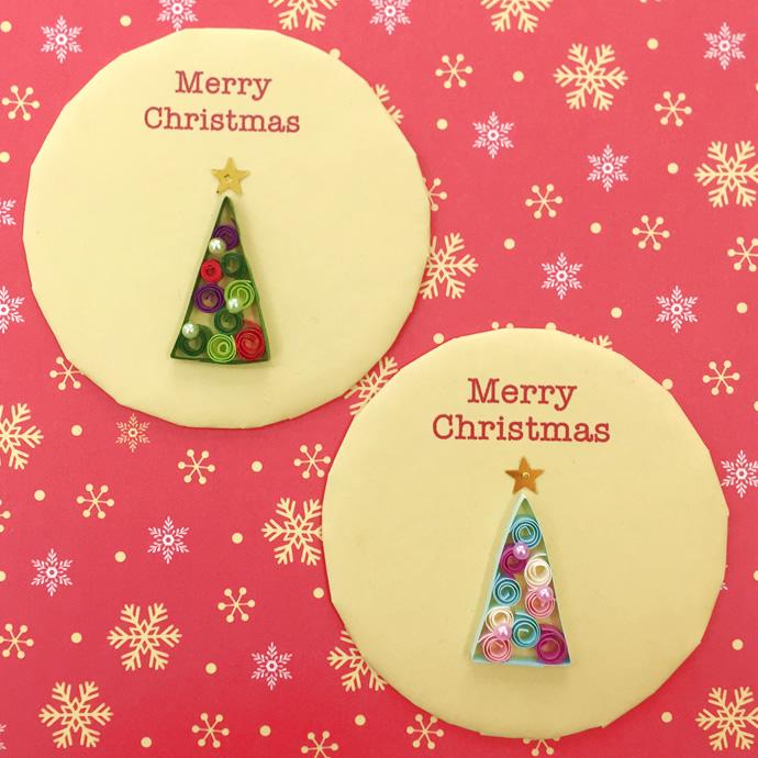NK craft キラリナ 啓文堂書店 吉祥寺店ワークショップ クリスマスツリーのマグネット