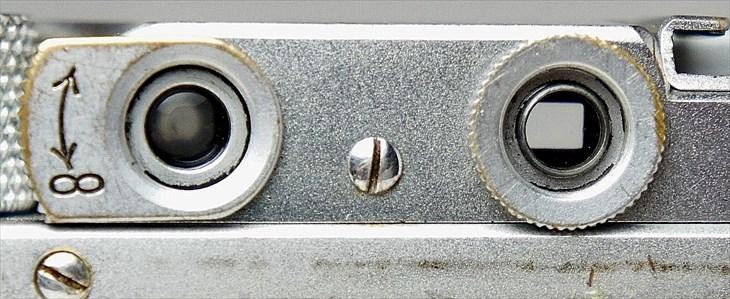 バルナックライカ�a後期四角窓のファインダーの状態