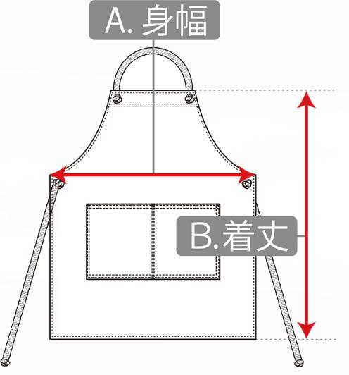 エプロンの寸法の測り方