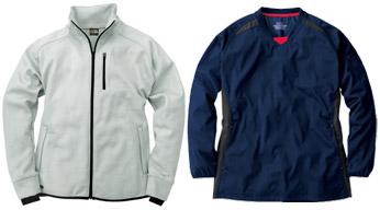ジャケットや防寒着などのポリエステルの素材に使用