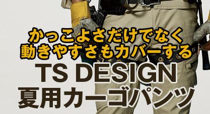 TS DESIGN夏用カーゴパンツ