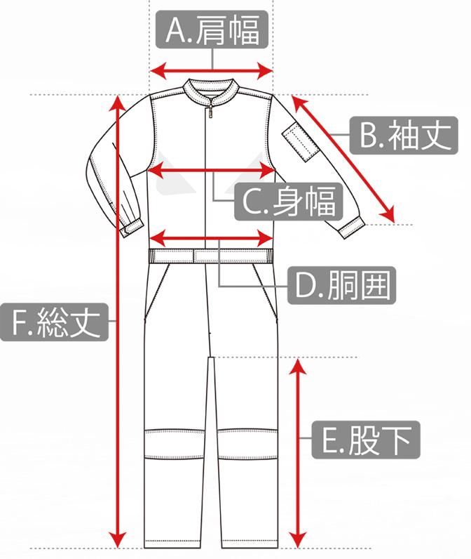つなぎの寸法の測り方