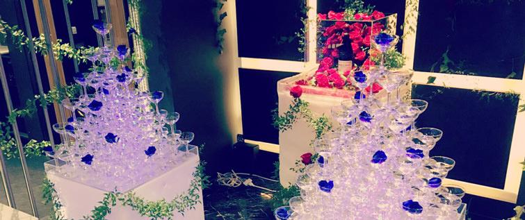 シャンパンタワー写真