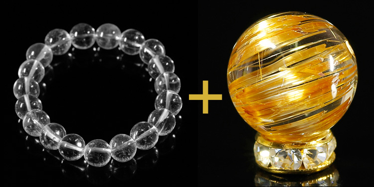 ルチルクォーツ+ガネッシュヒマール産ヒマラヤ水晶のイメージ画像4