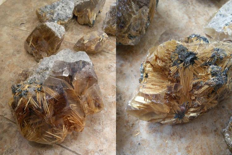 【秘蔵写真】加工前の極上ルチルクォーツ原石の画像