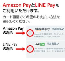 楽天ペイとAmazon Payが使えるようになりました カート画面でご希望のお支払い方法を選択してください