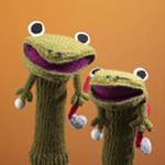 アミナコレクション カエルの親子ニットヘッドカバー