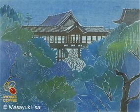 伊砂正幸氏作の、青楓に心なごむ「東福寺」