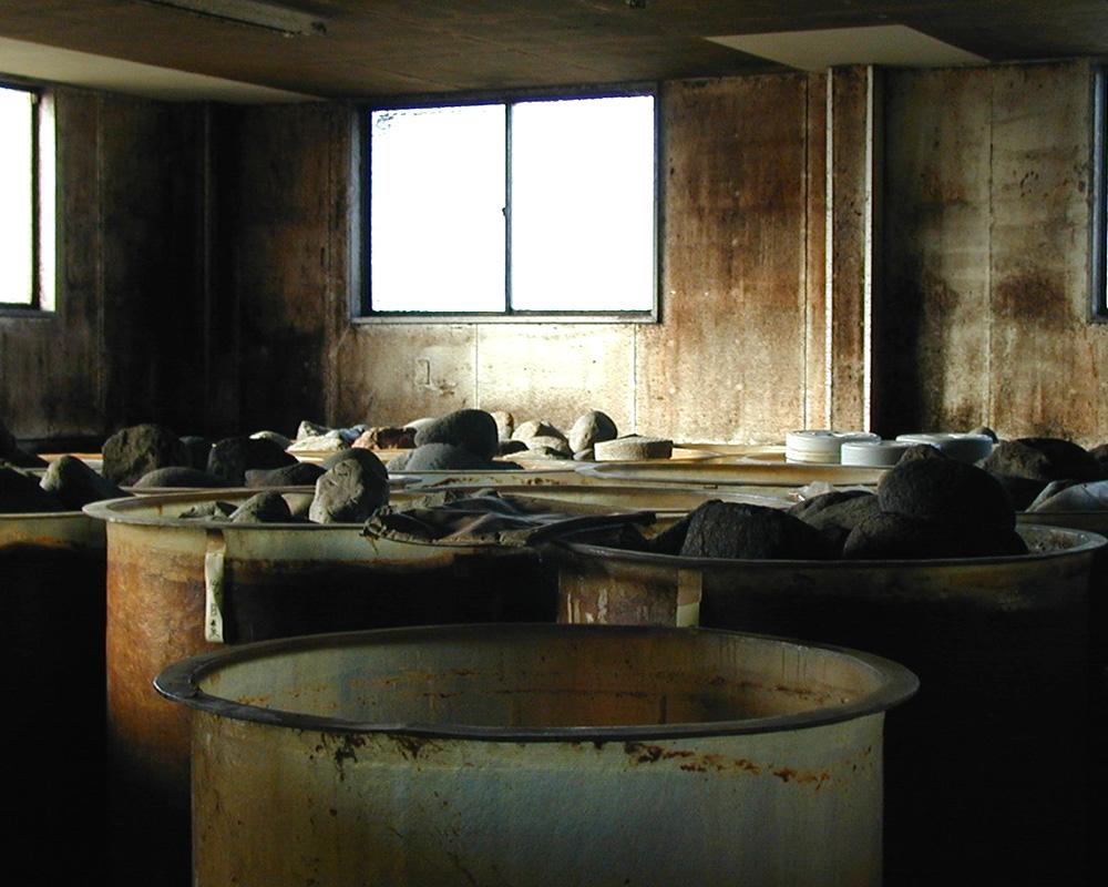 味噌ができる工程の大豆処理