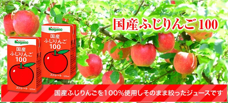 国産ふじりんご100 国産ふじりんごを100%使用しそのまま絞ったジュースです。