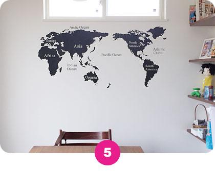 ウォールステッカー【世界地図】