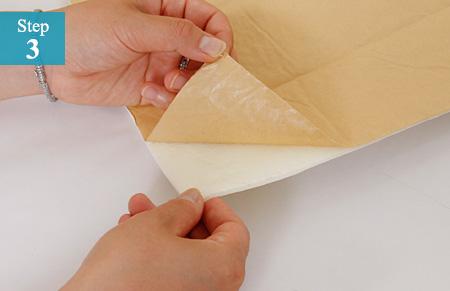 クッション壁紙シールの貼り方