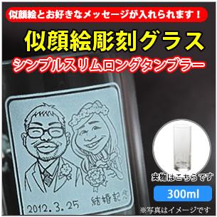 【タンブラー・似顔絵彫刻】真空タンブラー シンプルスリムロングタンブラー 450ml