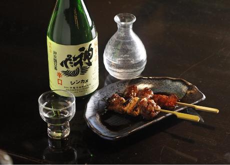 焼き鳥タレと日本酒