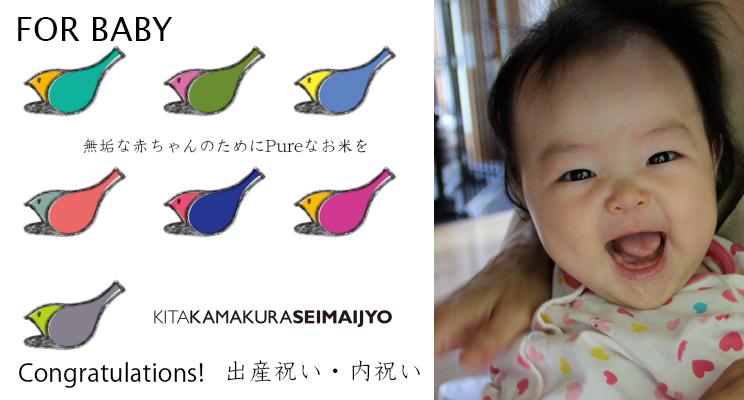 ご出産内祝い・お祝いのお米ギフトに最適なBABY IRODORI