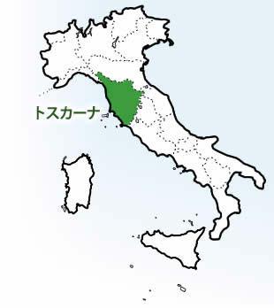 イタリア・トスカーナ州の場所を示す図