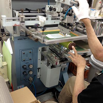 回転シルク印刷