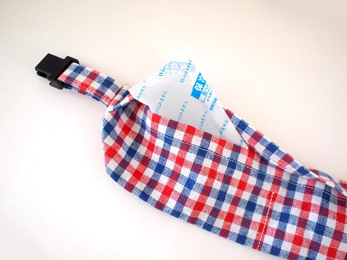 犬用 クールネック 熱中症対策 ギンガムチェックシリーズ(レッド×ブルー) 保冷剤
