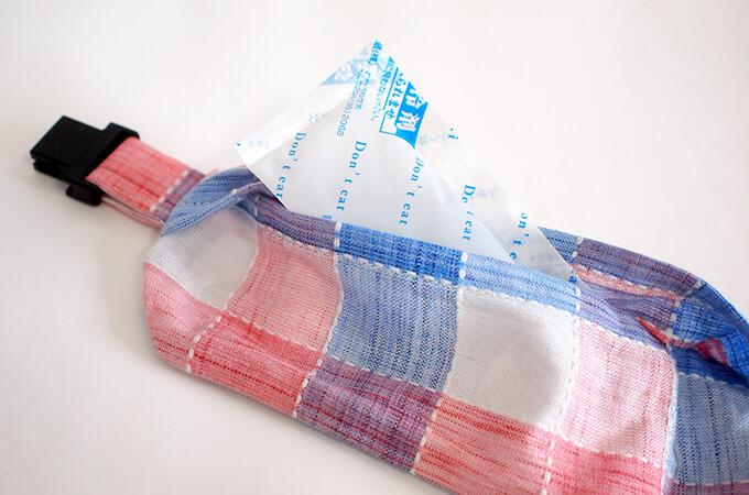 犬用 クールネック 熱中症対策 サマーチェックシリーズ(朝焼けピンク) 保冷剤