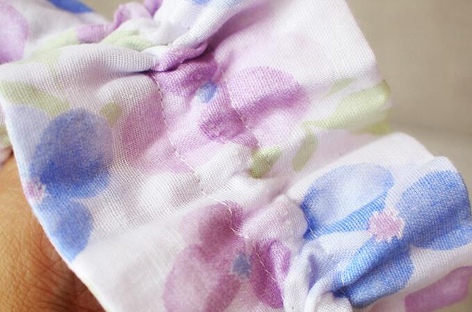 イヤーシュシュ フラワーシャワーシリーズ(紫) 滑り止め
