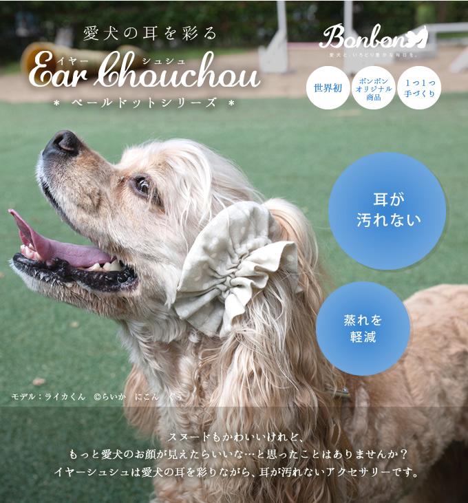 愛犬の耳を彩るイヤーシュシュ ペールドットデイズ