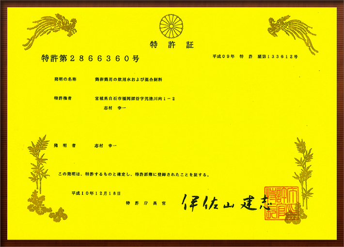 特許第2866360号取得