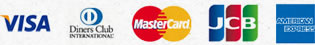 VISA DinersClub MasterCard JCB AMERICANEXPRESS