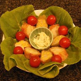 さつま揚げのグリーンサラダ