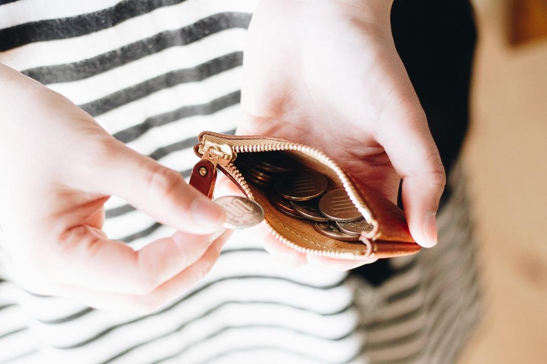 手のひらサイズのコインケース