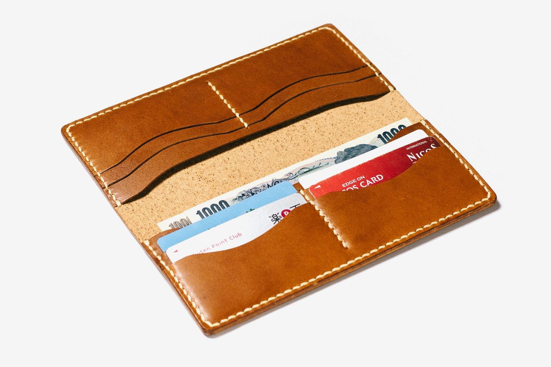 開いた長財布