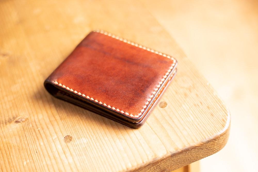 お客様に使っていただいた二つ折り財布