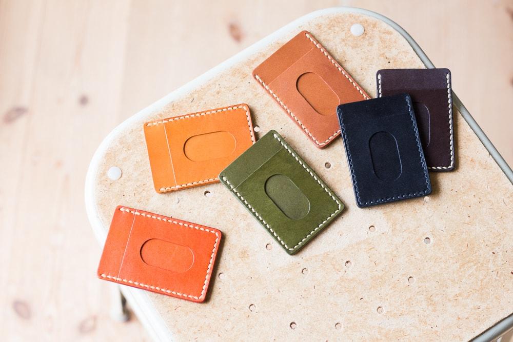 シンプルな革製パスケース | DURAM パスケース 9004(C)