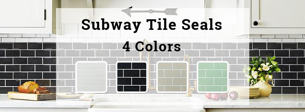 Subway Tile Seals 4 Colors