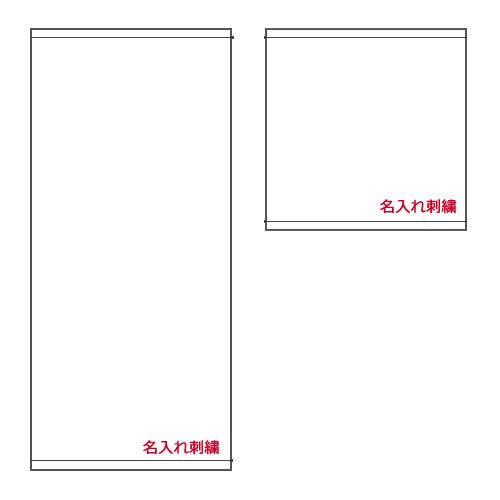 刺繍する文字の位置