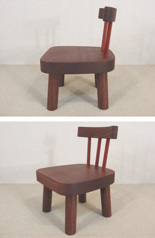 子供椅子 S ウォールナット