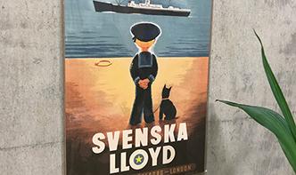 A4アートポスター セイラーボーイと犬