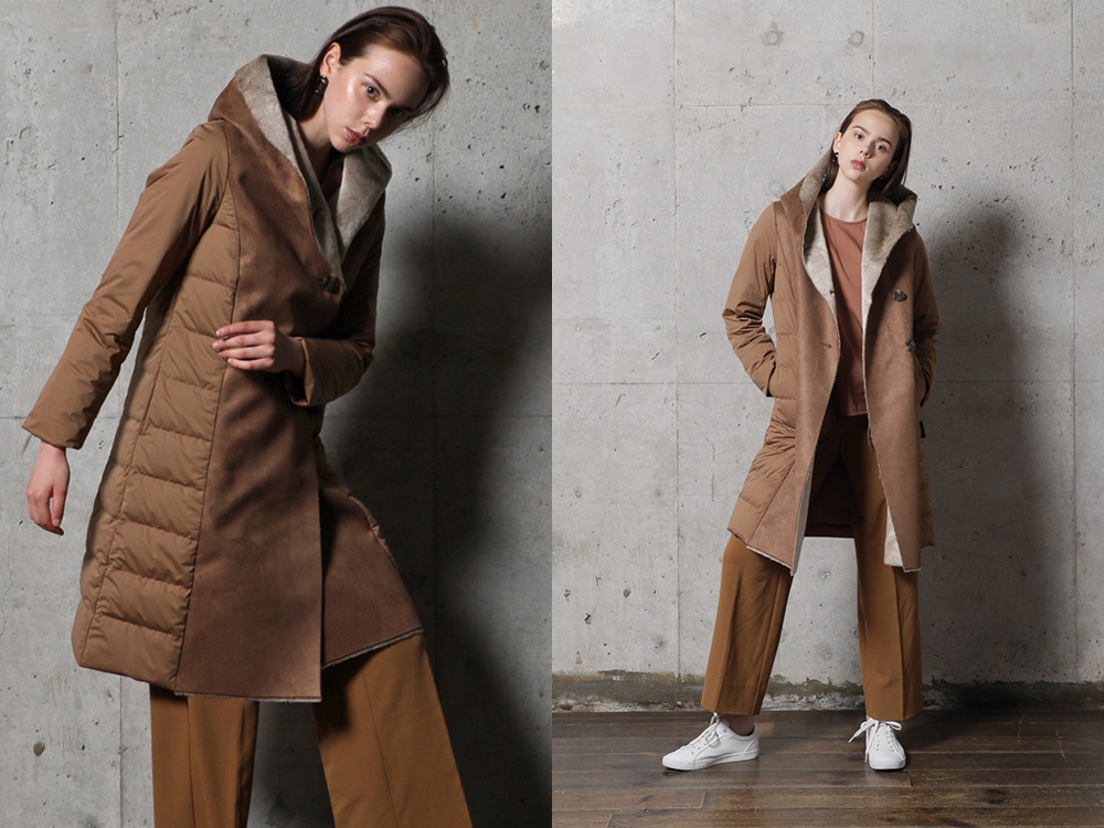 YO912021 Fake Mouton Long Coat